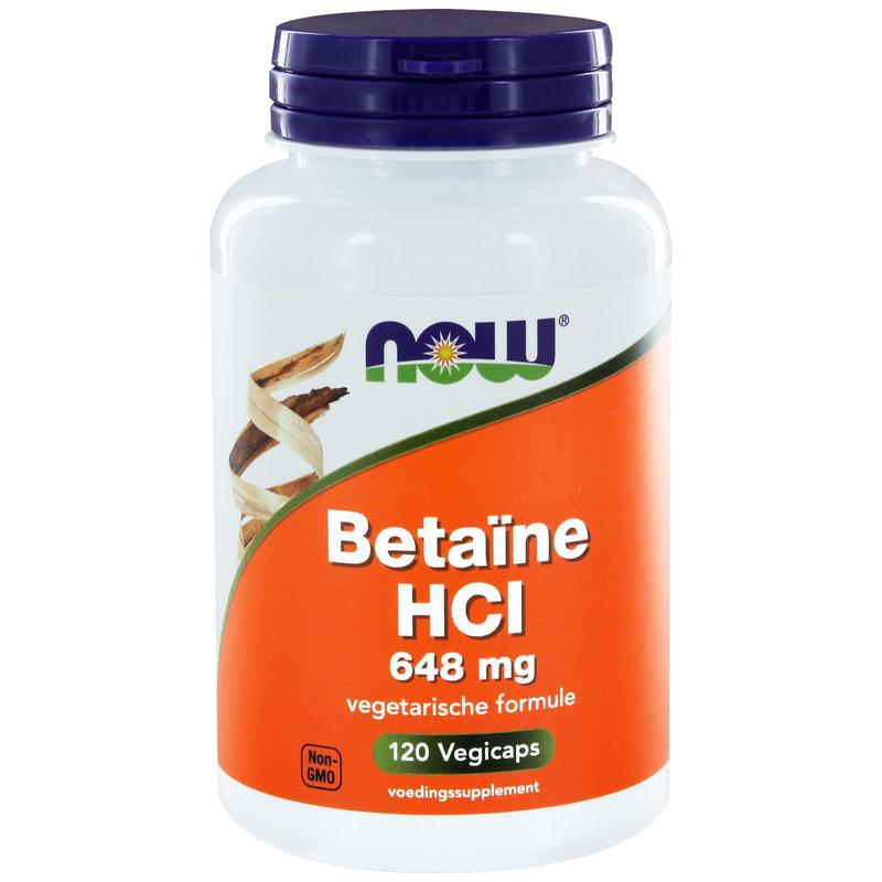 NOW BETAINE HCL 648MG KAPSELN 8430