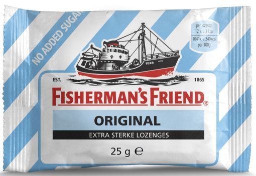 FISHERMANS FRIEND ORIGINAL EXTRA STRONG SUIKERVRY