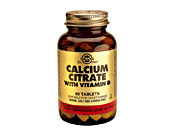 SOLGAR CALCIUM CITRATE WITH VITAMIN D TABS
